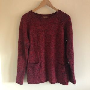 NWOT Gap red navy long sleeve crew neck sweater